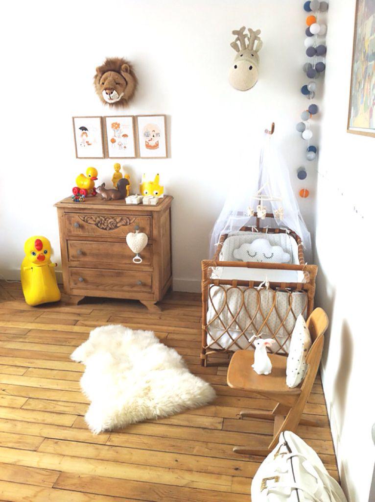 Chambre de bébé vintage. Lit en rotin | Kids | Pinterest | Nursery ...
