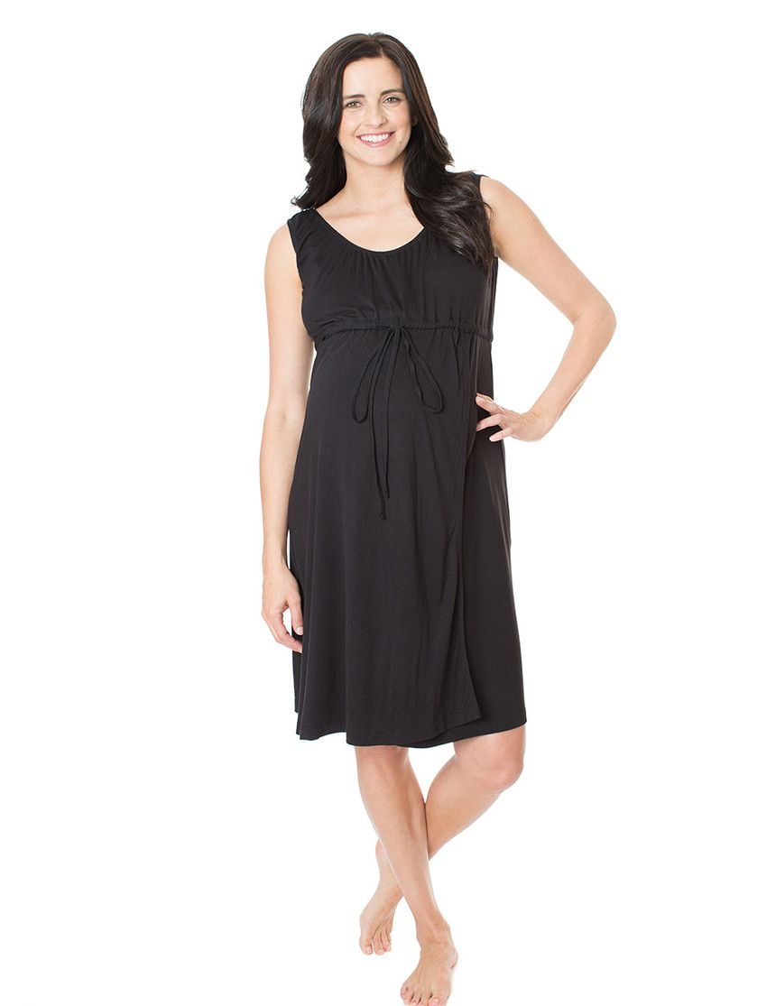 Simply Black 3 in 1 Labor / Delivery / Nursing Gown | Nursing gown