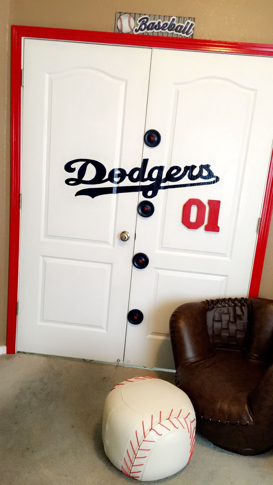 La Dodgers Jersey Doors Decor Handmade