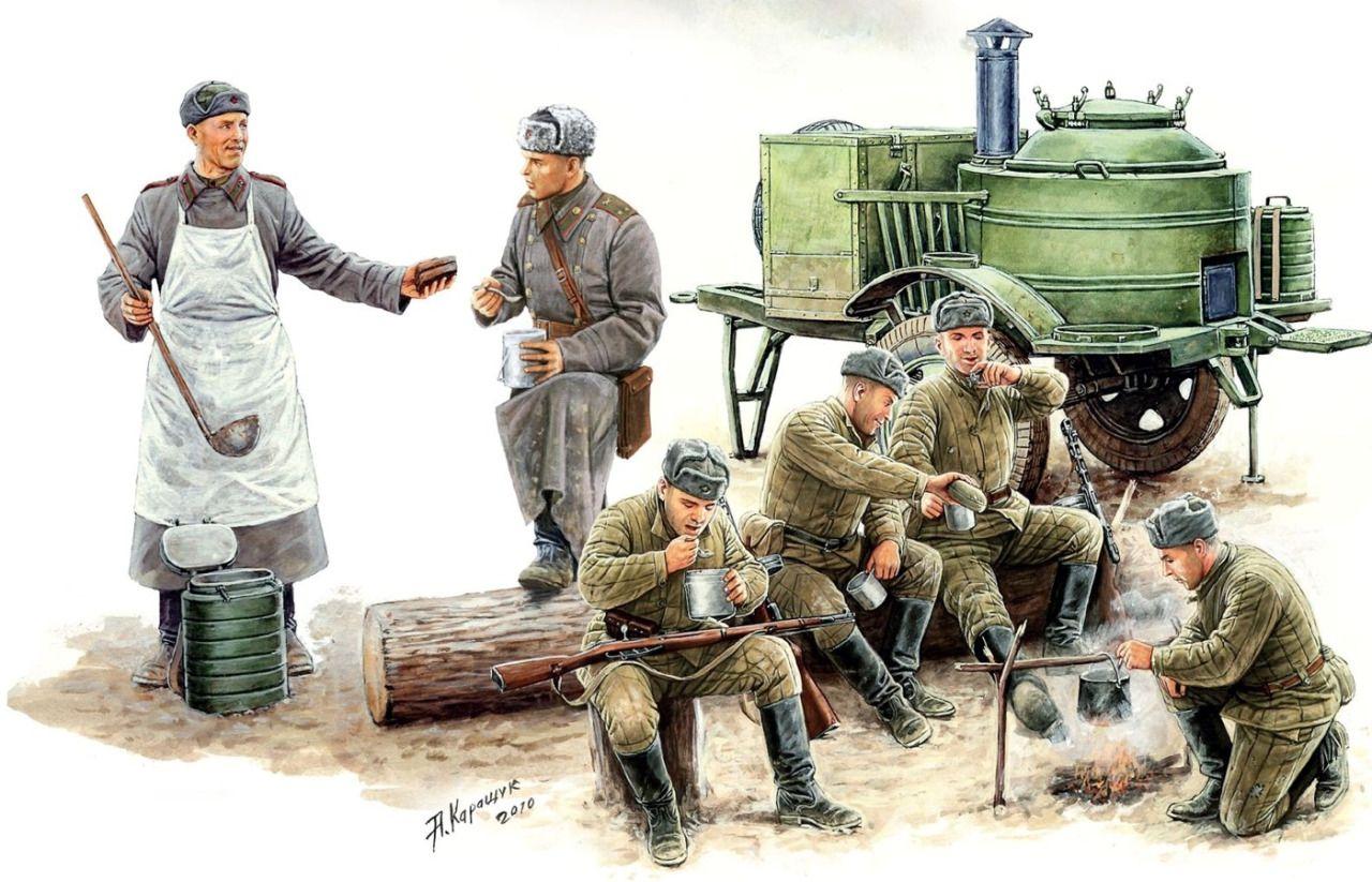 1944 Cocina campaña soviética - Andrey Karashchuk - Masterbox