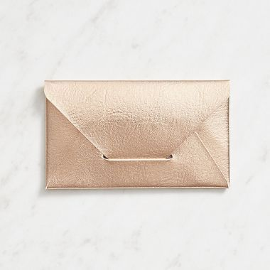 Rose gold business card holder keep your business cards organized in your purse with this exquisite envelope style business card holder reheart Choice Image