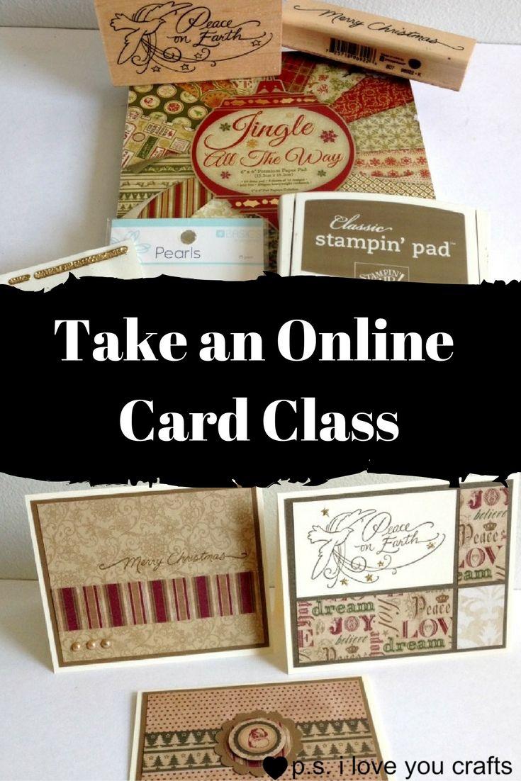 online card class for beginners  cards card writer