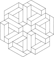 Optical illusions coloring pages | Free Coloring Pages | 232x218