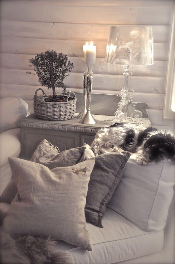 kjellerstuen-31mars- villapaprika I like the grey, need to paint a - wohnzimmer dekoration grau
