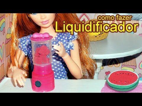 Como fazer um liquidificador para boneca Barbie, Monster High, Frozen, EAH e outras - YouTube