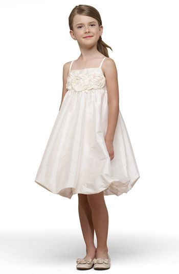 Beautiful bubble dress, Us Angels Taffeta Rosette Bubble Dress (Toddler, Little Girls & Big Girls)