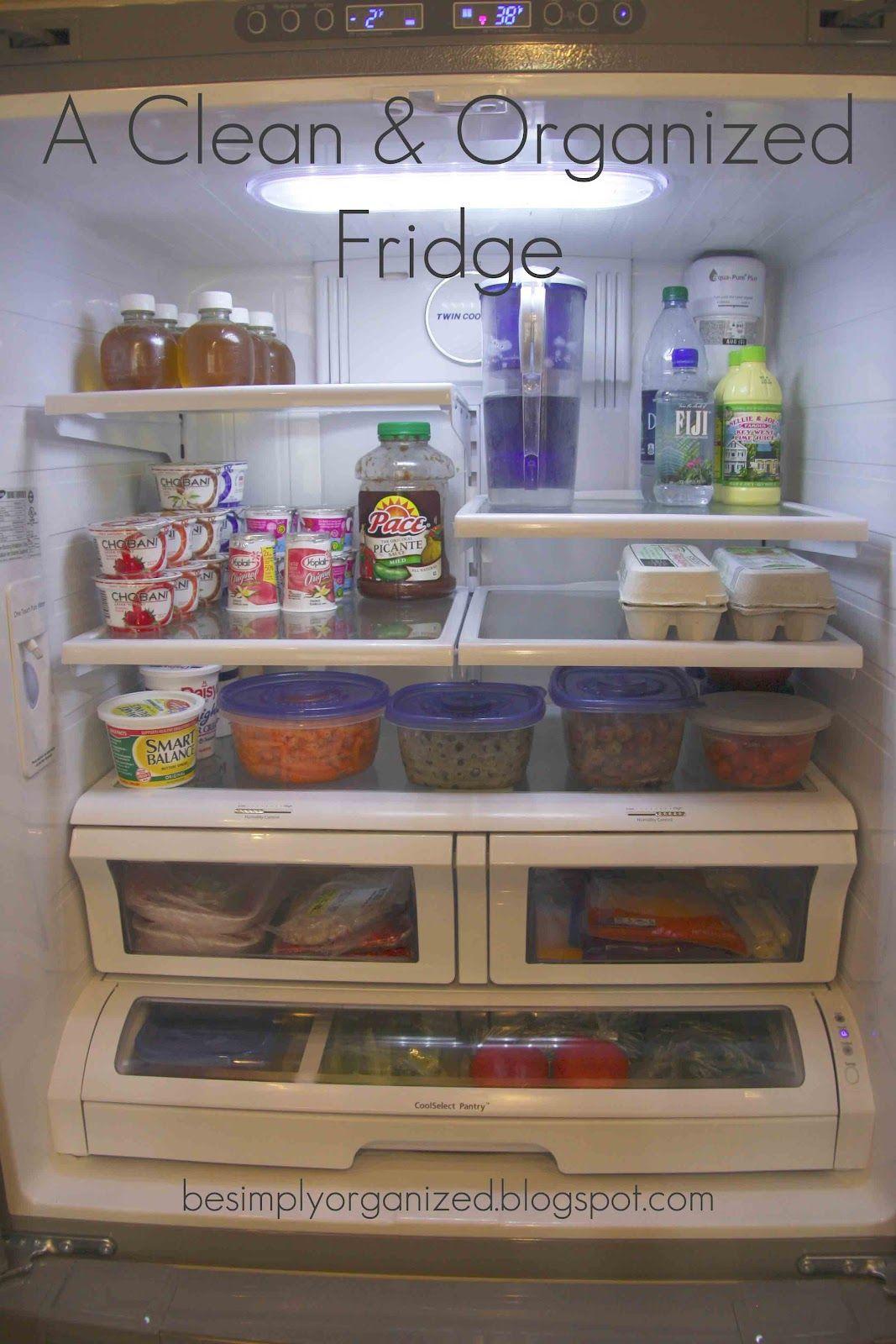 simply organized: a clean & organized fridge