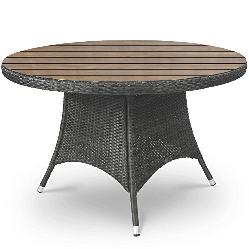 Oasis Rattan and Plaswood Round Garden Table 120cm Diameter