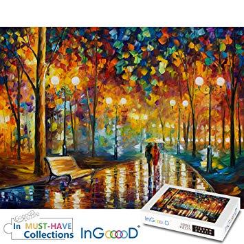Amazon Com Ingooood Rainy Night Walk Paper Puzzle 1000 Pieces Toys Games Night Painting Rainy Night Artist Painting