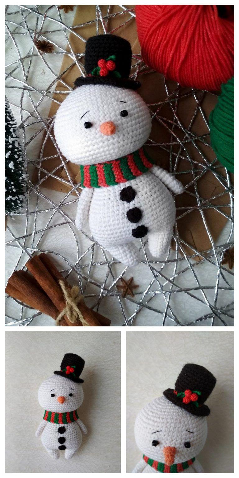 Crochet Snowman Amigurumi Free Pattern Free Amigurumi Patterns Christmas Crochet Crochet Christmas Decorations Crochet Snowman
