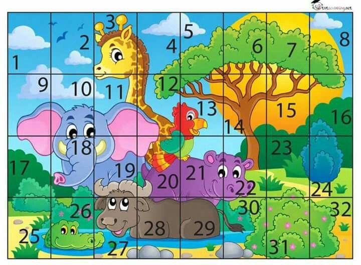 Jogo Quebra Cabeca Animais Preschool Puzzles Math Activities Preschool Preschool Activities