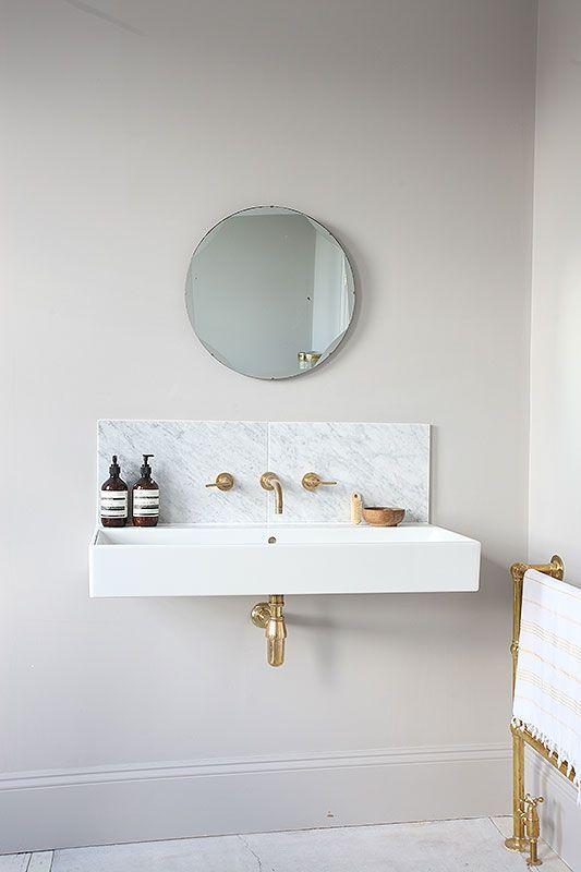 Single Sink And Mirror   Image Via Light Locations