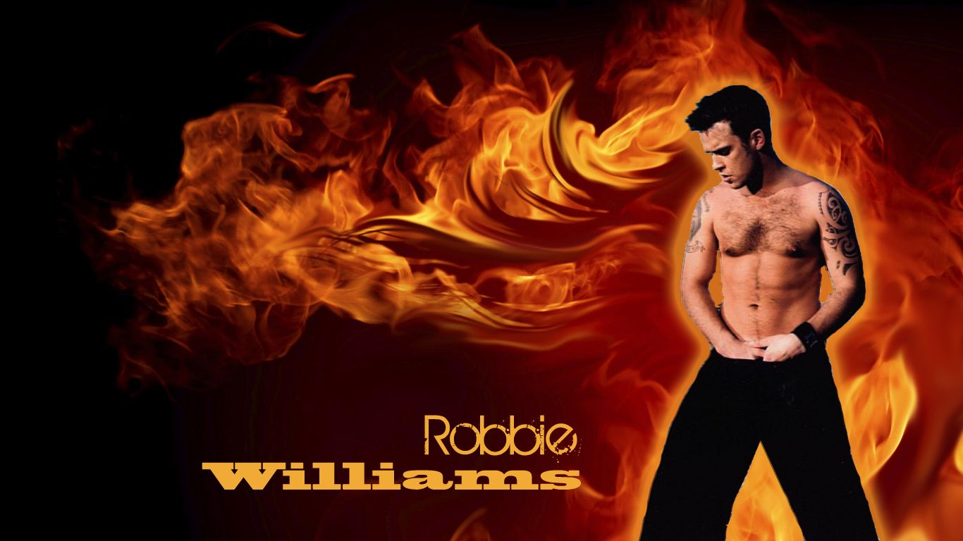 por Leon http://leooonietje.deviantart.com/art/Robbie-Williams-Wallpaper-176086224