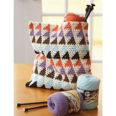 Free Crochet Pattern For This Cute Triangles Bag From Lily Sugar