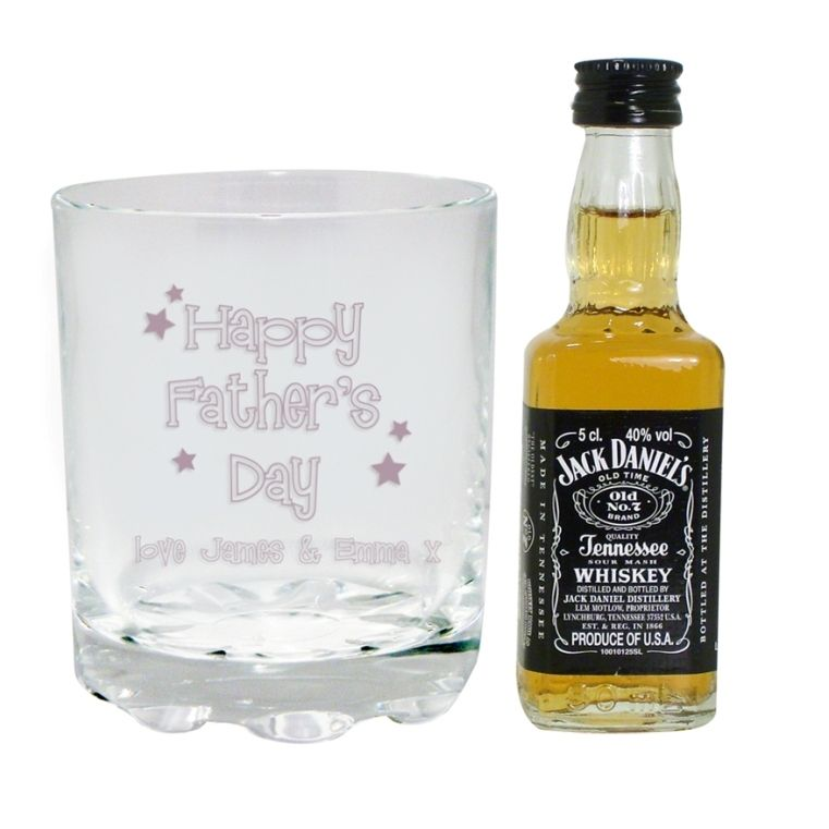 Fathers day gift ideas personalised whisky tumbler
