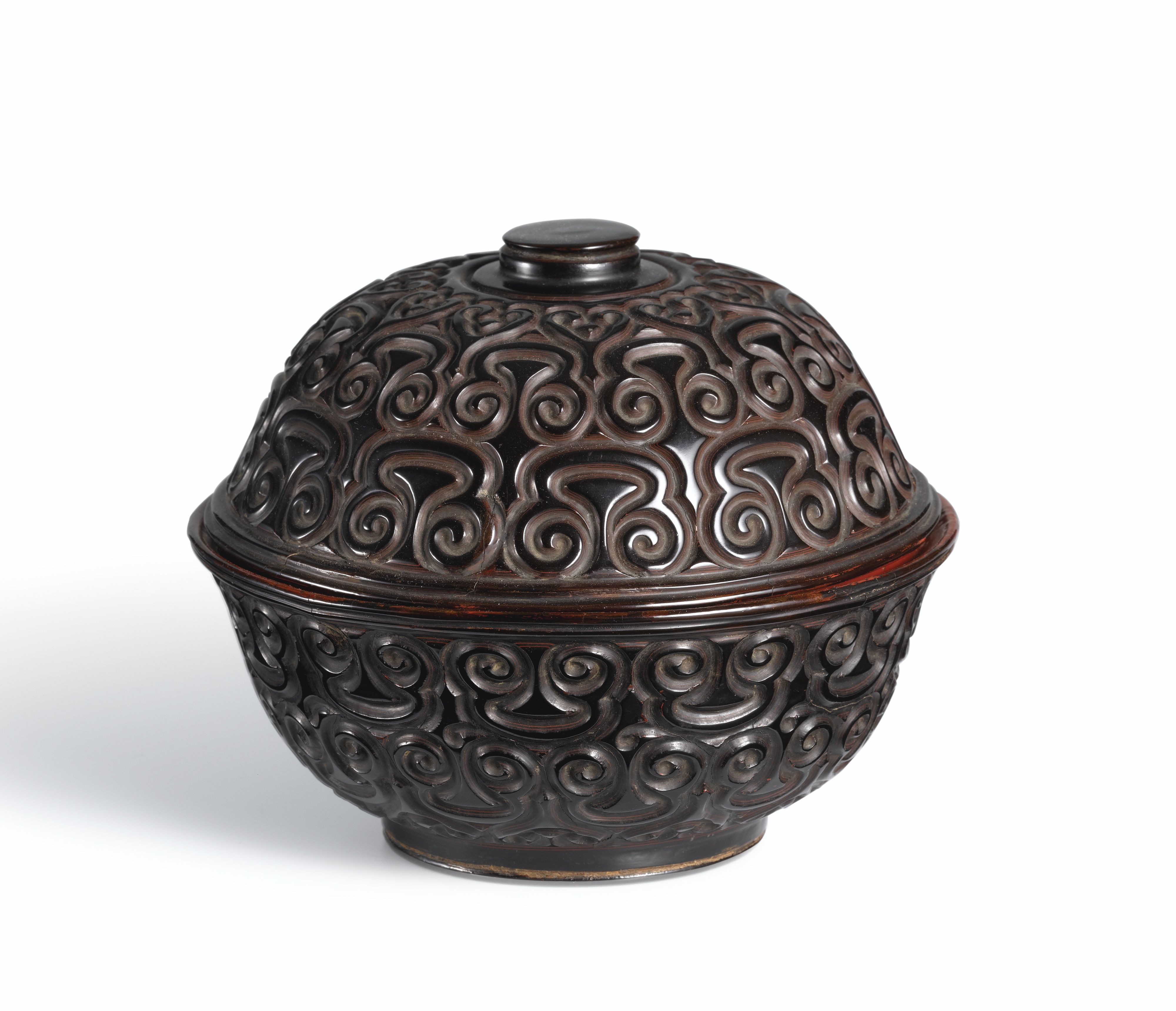 A Black Lacquer Bowl And Cover Ming Dynasty Ming Dynasty Ancient China Bowl