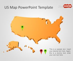 Free US Map PowerPoint template is a free map for PowerPoint th ...