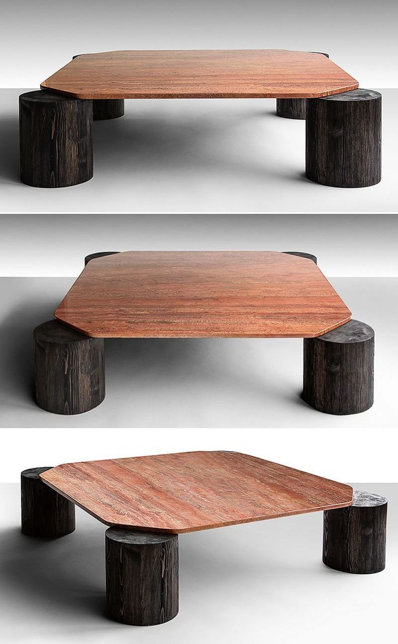 Stunning Coffee Table With Tree Trunk Legs Verde Marble Top Coffee Table Marble Coffee Table Handcrafted Table [ 1292 x 800 Pixel ]