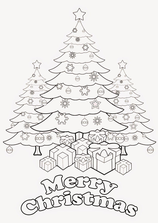 Christmas Tree   Christmas tree coloring page, Christmas ...