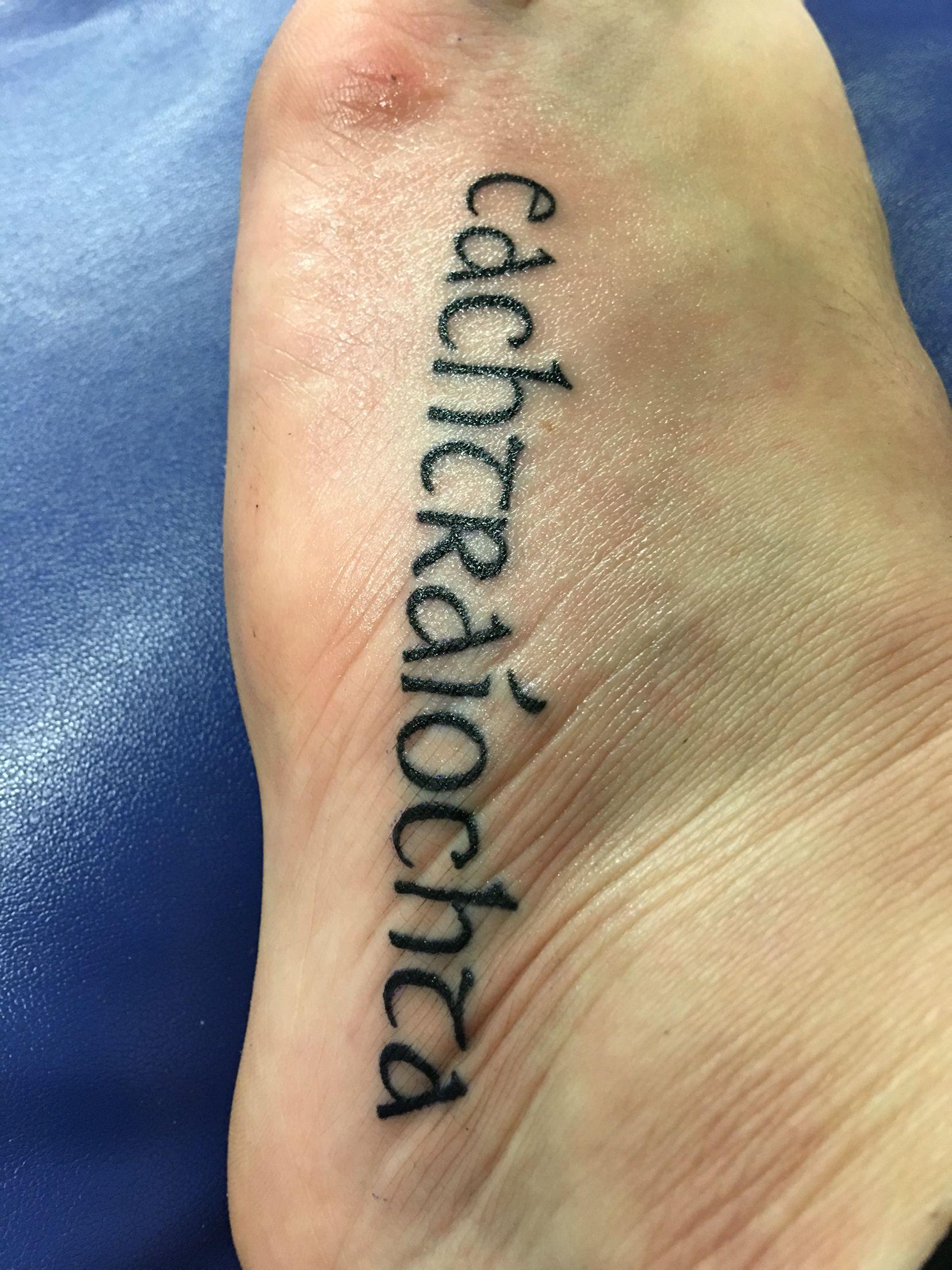 Gaelic Font Tattoo