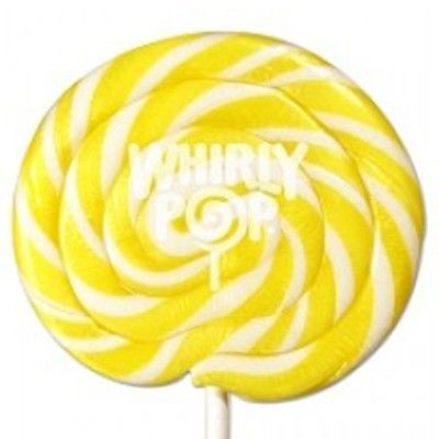 Yellow Candy - Yellow and White Swirl 1.5 oz Whirly Pop