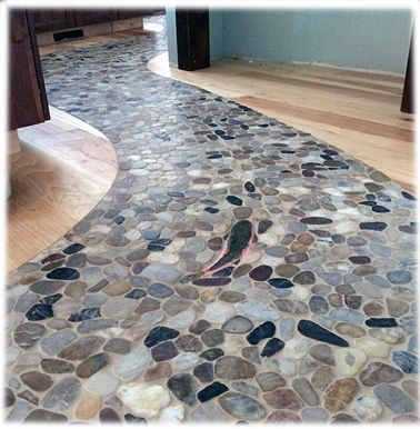 Bg Trout Shaped Tiles And Rock Floor