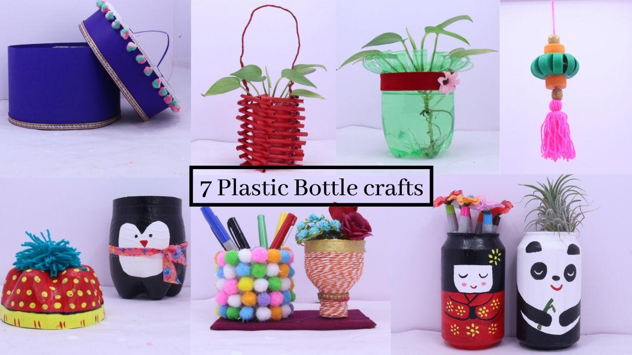 7 Plastic Bottle Craft Idea Easy Useful Bottle Hacks Best Out Of