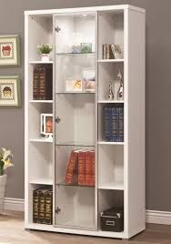 Modern Design Ideas Furniture Heavenly White Bookshelves Modern Design Ideas And Nice Glass Bookcase With Glass Doors White Display Cabinet Glass Cabinet Doors