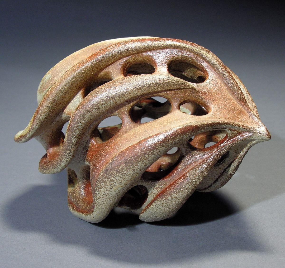 Contemporary sculpture fossil pod original art from