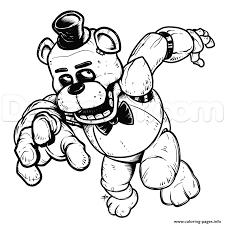 Print Freddy Five Nights At Freddys Fnaf Coloring Pages Freddy Para Colorear Figuras Geometricas Para Armar Libros Para Pintar