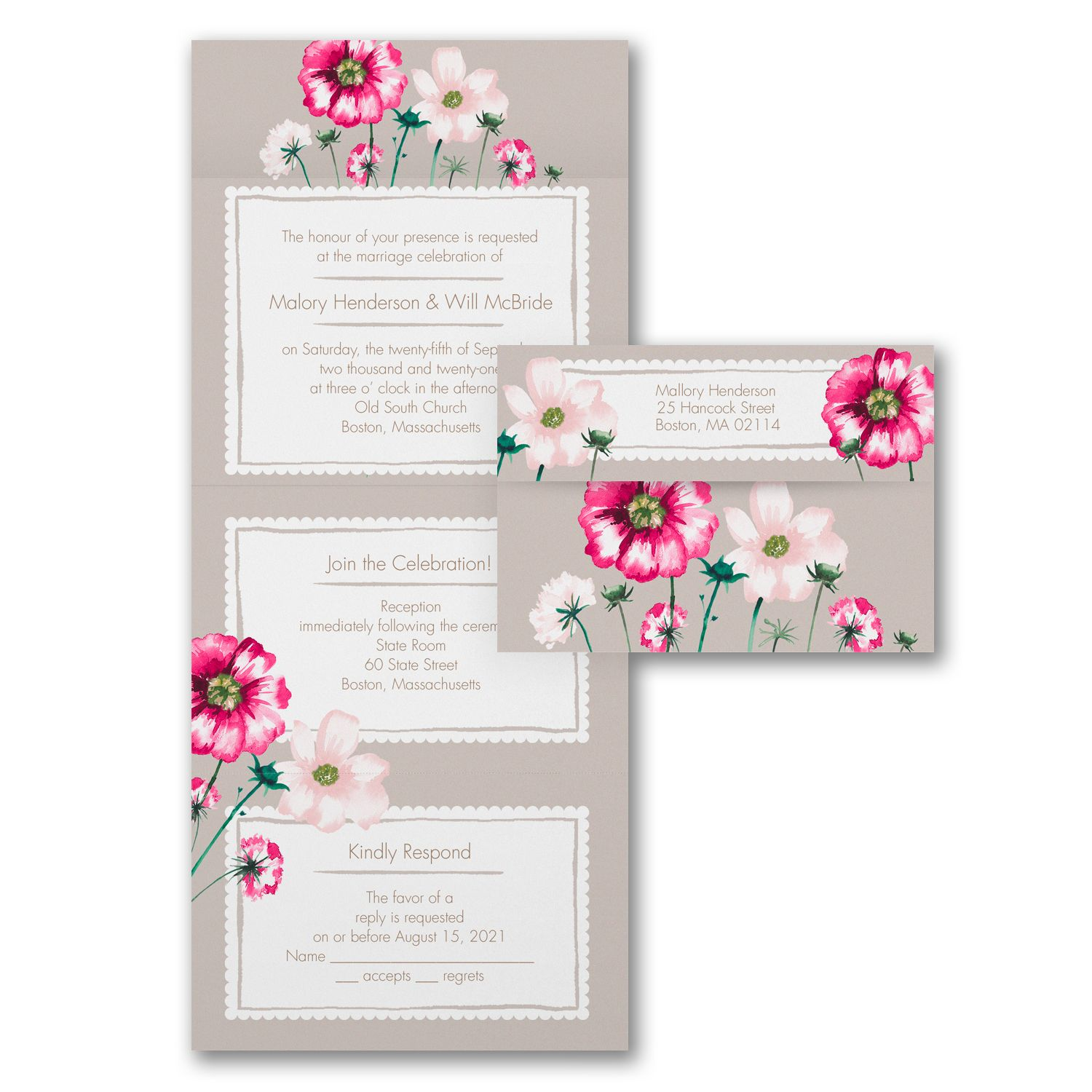 Pin On Floral Invitations
