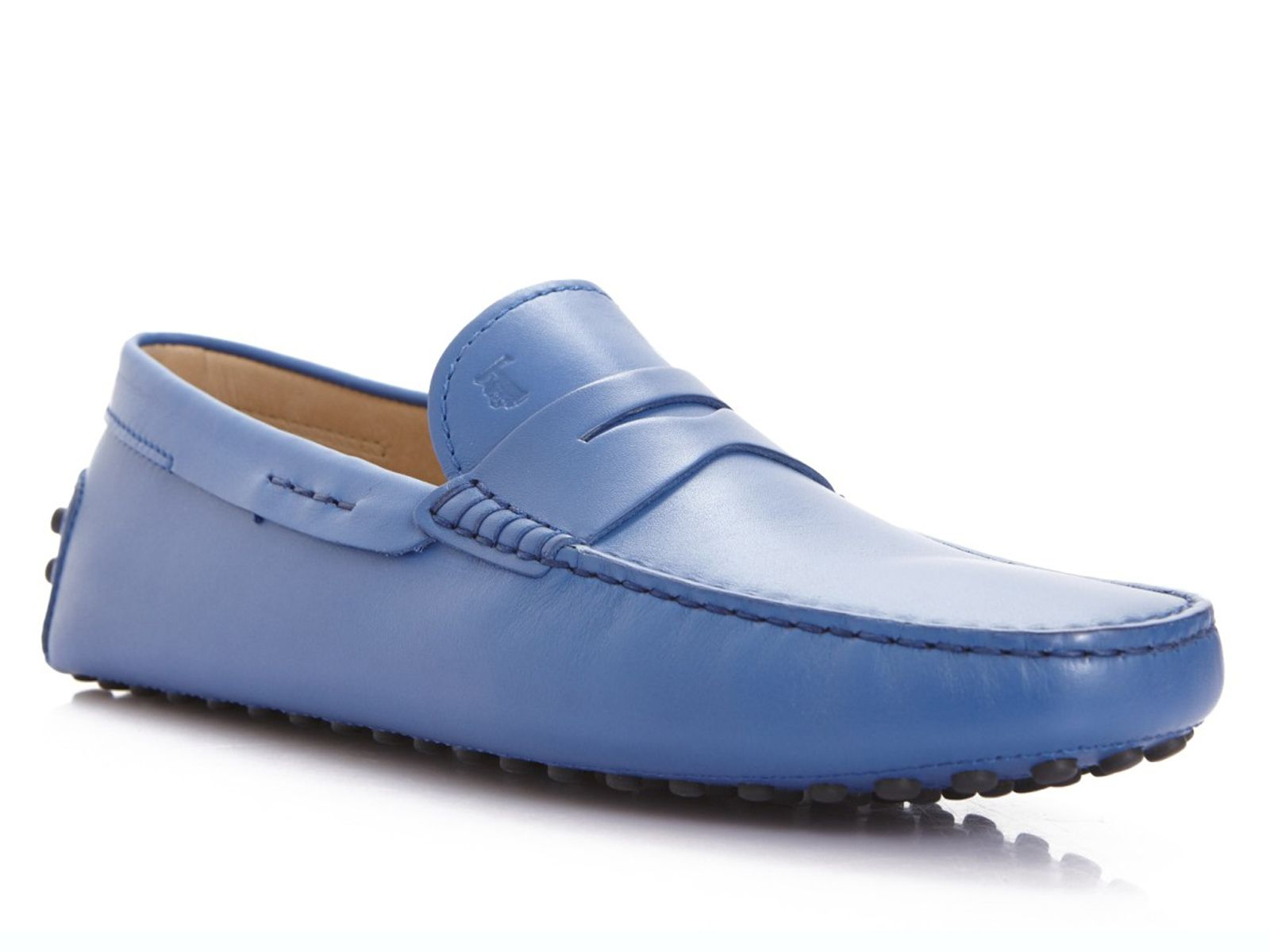 1a620a10cee Tod s men s driving moccasins in light blue leather - Italian Boutique  199