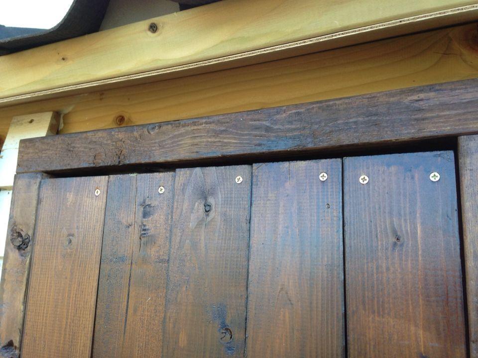 木製物置小屋の作り方 5 トビラ編 物置小屋の作り方 小屋 物置小屋