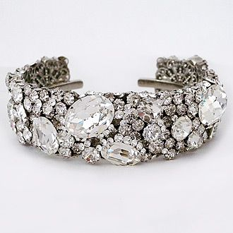 Haute Bride Bracelets Cuffs Chunky Crystal Bridal Cuff Takes Sparkle To A New Level Red Carpet Worthy Favorite Among Perfect Details Brides