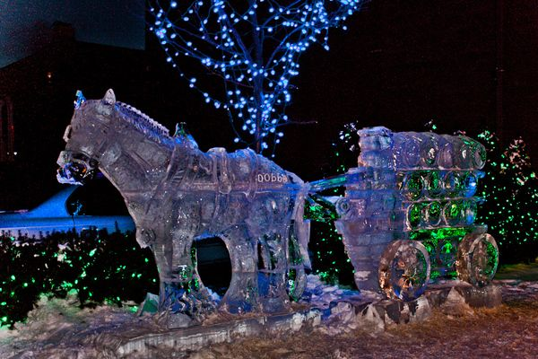 Ice Sculpture Plymouth Mi Michigan 2 Pinterest