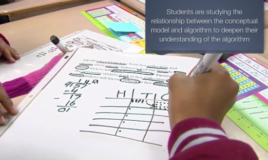 In this video, students practice standard 4.NBT.6: Find whole-number quotients and remainders with up to four-digit dividends and one digit divisor…