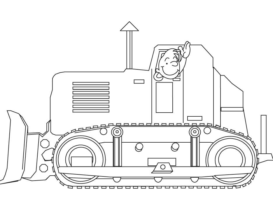 Bulldozer coloring pages | rugs | Pinterest