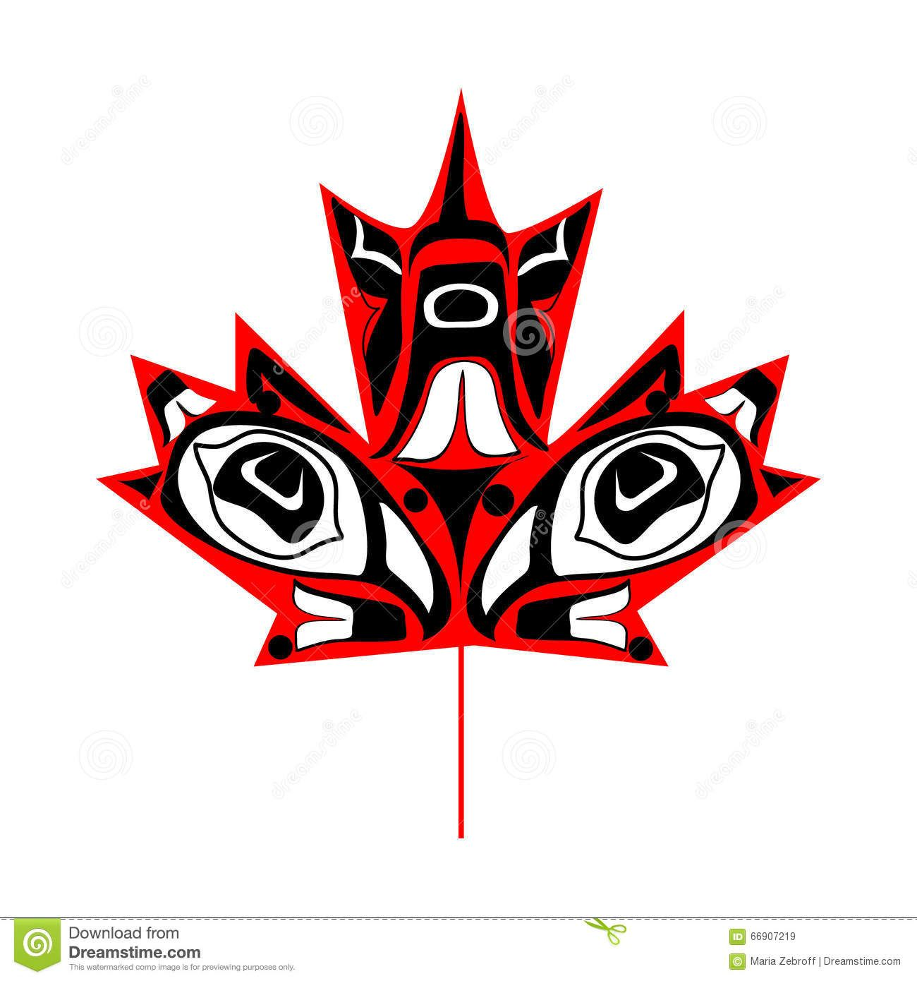 Canadian Native Maple Leaf Download From Over 44 Million High Quality Stock Photos Images Vectors S Native American Art Pacific Northwest Art Canadian Art