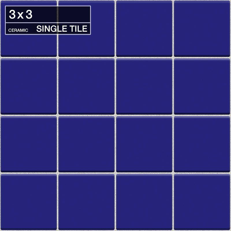 """Daltile QH67-33601A Natural Hues Regency Blue 3"""" x 3"""" Abrasive Loose Flat Cerami Regency Blue Tile Multi-Surface Tile Field Tile"""
