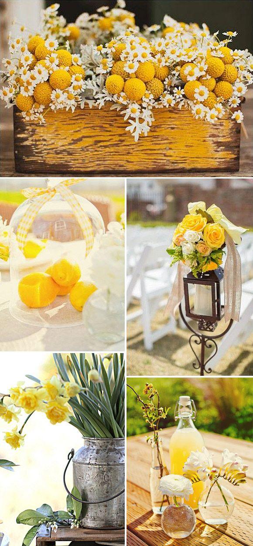 Decoraci n en amarillo de bodas y fiestas amarillo - Decoracion en amarillo ...