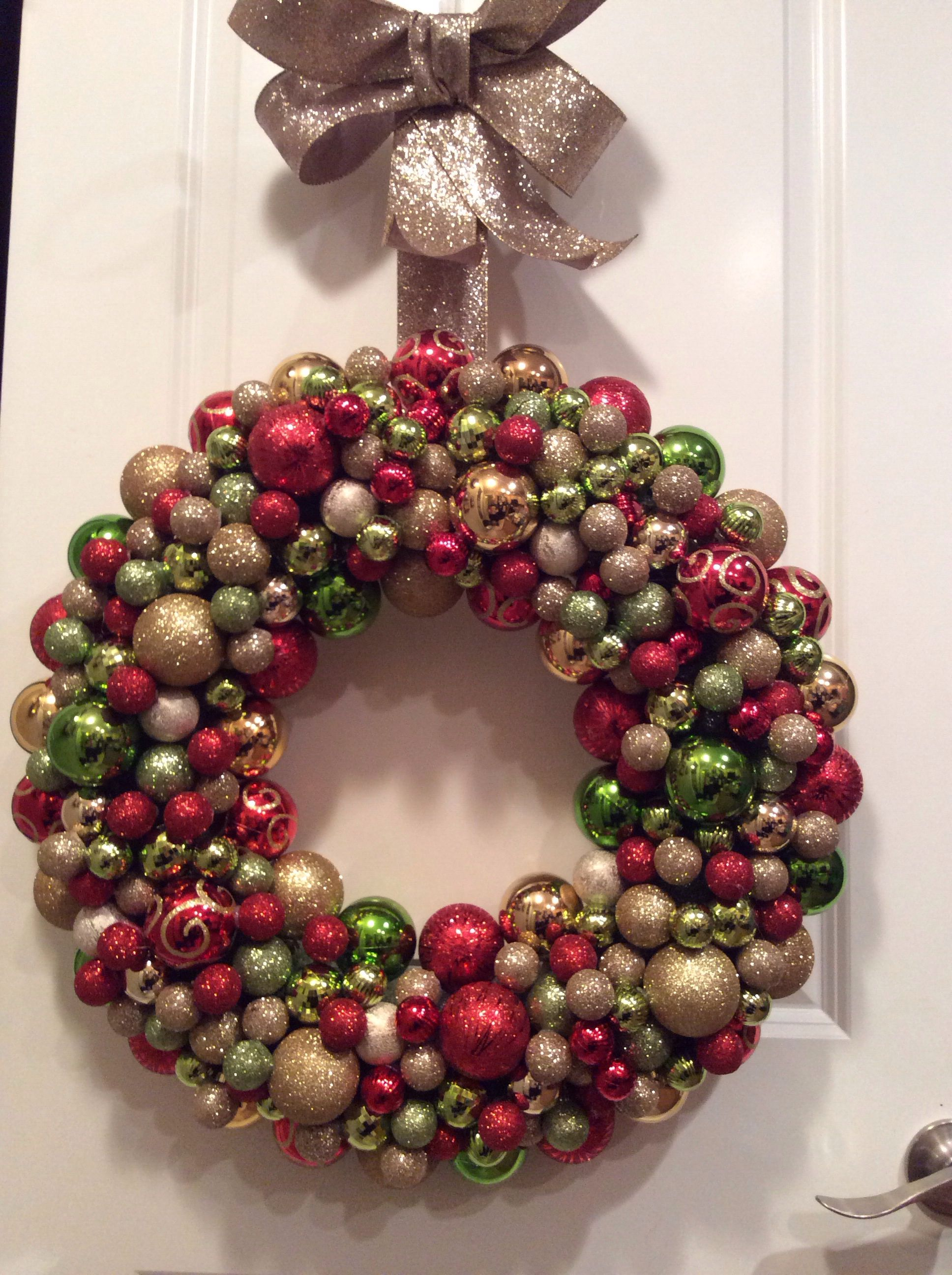diy ornament wreath all accessories from hobby lobby - Hobby Lobby Christmas Wreaths