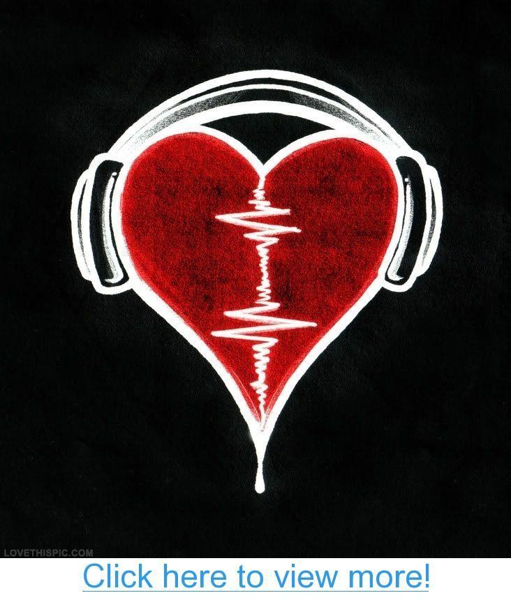 Heartbeat Music Art Heart Headphones Heartbeat Beat Musical