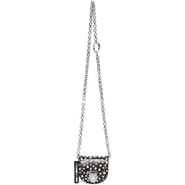 McQ Alexander Mcqueen Black and White Dotted Coin Pouch (€265) ❤ liked on Polyvore featuring bags, wallets, clasp wallet, engraved wallets, coin purse, snakeskin wallet and credit card holder wallet