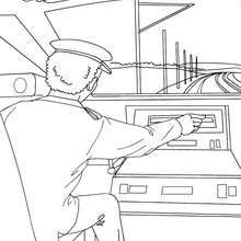High speed train driver driving | Coloring pages, Sketches ...