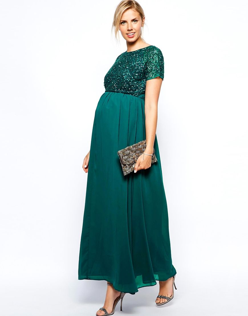 Maternity Exclusive Embellished Maxi Dress | Maternity Dresses ...