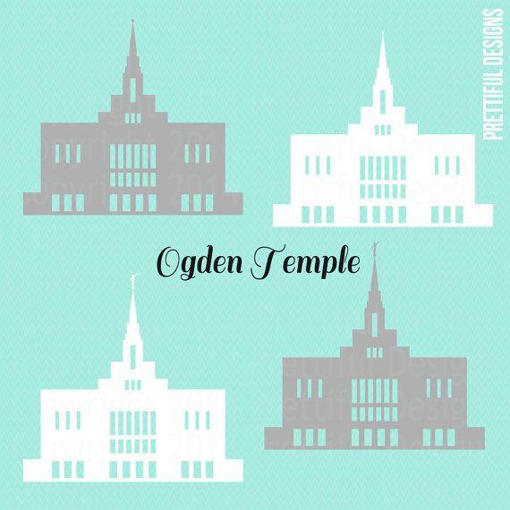 Ogden Temple Utah Lds Mormon Clip Art Png Eps Svg Vector