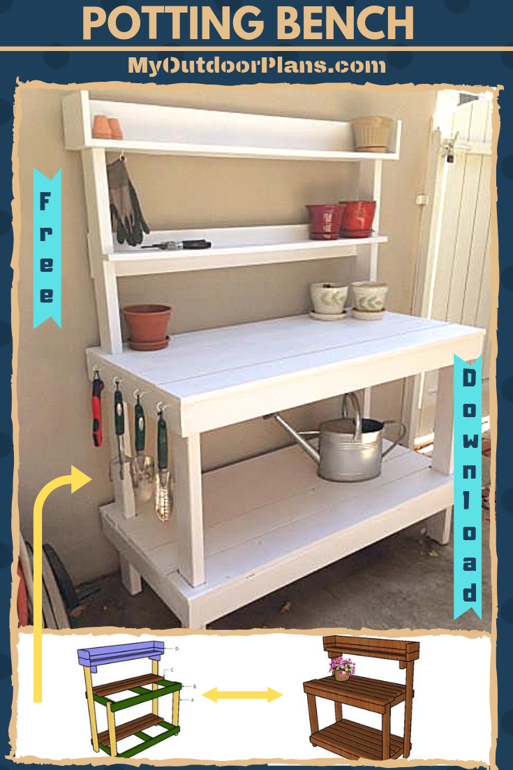 check out free plans for building a potting bench from 2x4s. step