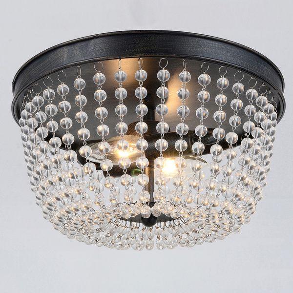 4a34e688d4d Connie 2-light Antique Bronze Flush Mount - Overstock™ Shopping - Big  Discounts on Otis Designs Flush Mounts