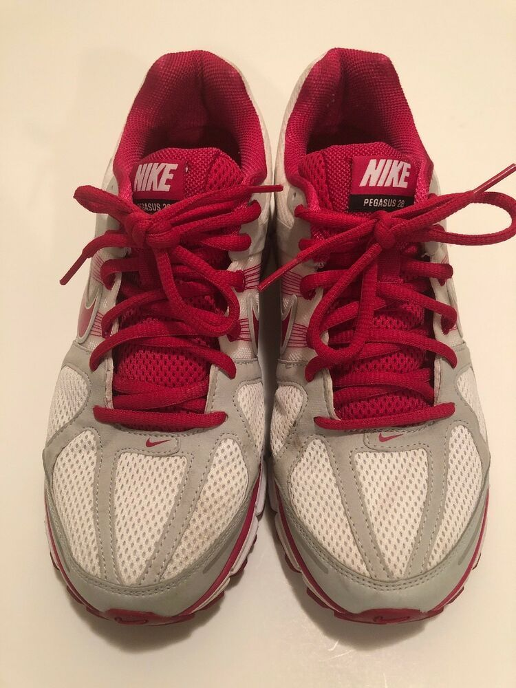 17256831d65c Nike Womens Air Zoom Pegasus 28 Running Shoes Size 10 Pink White Gray - Nike  Airs