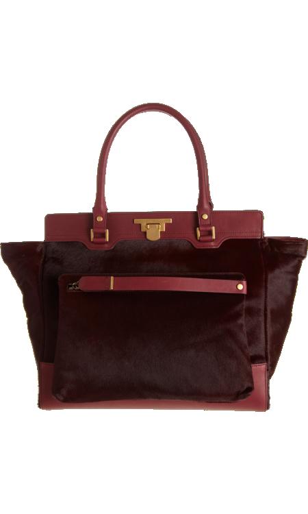 LANVIN  Miss Sartorial Ponyhair Shopper With Detach Bag